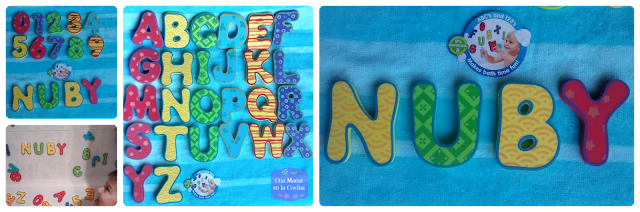 Letras y Números para el baño NUBY