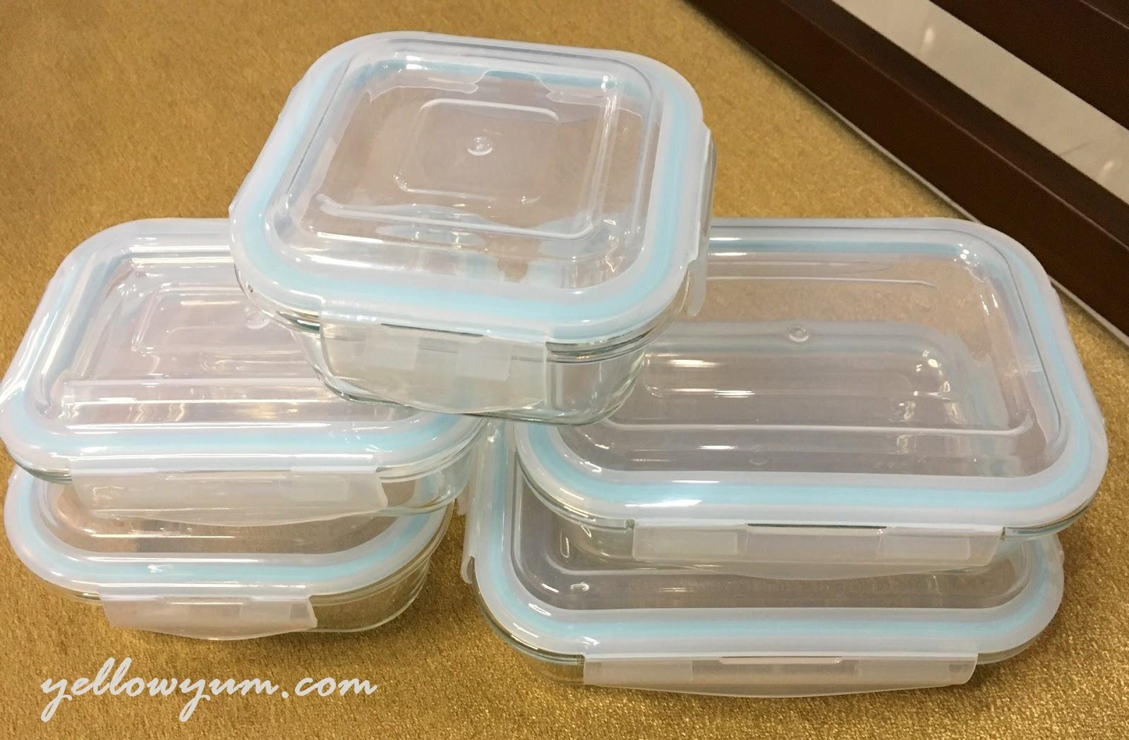 Pro Glass 10pc Food Storage Set Yellow Yum