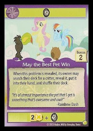 My Little Pony May the Best Pet Win GenCon CCG Card