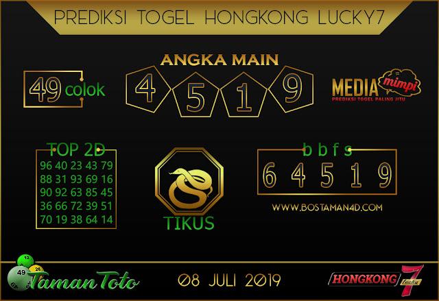 Prediksi Togel HONGKONG LUCKY 7 TAMAN TOTO 08 JULI 2019