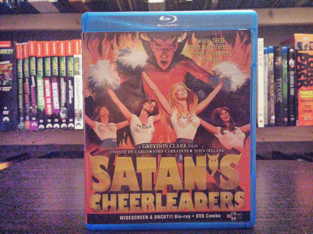 The front of the Satan's Cheerleaders blu-ray from VCI Entertainment