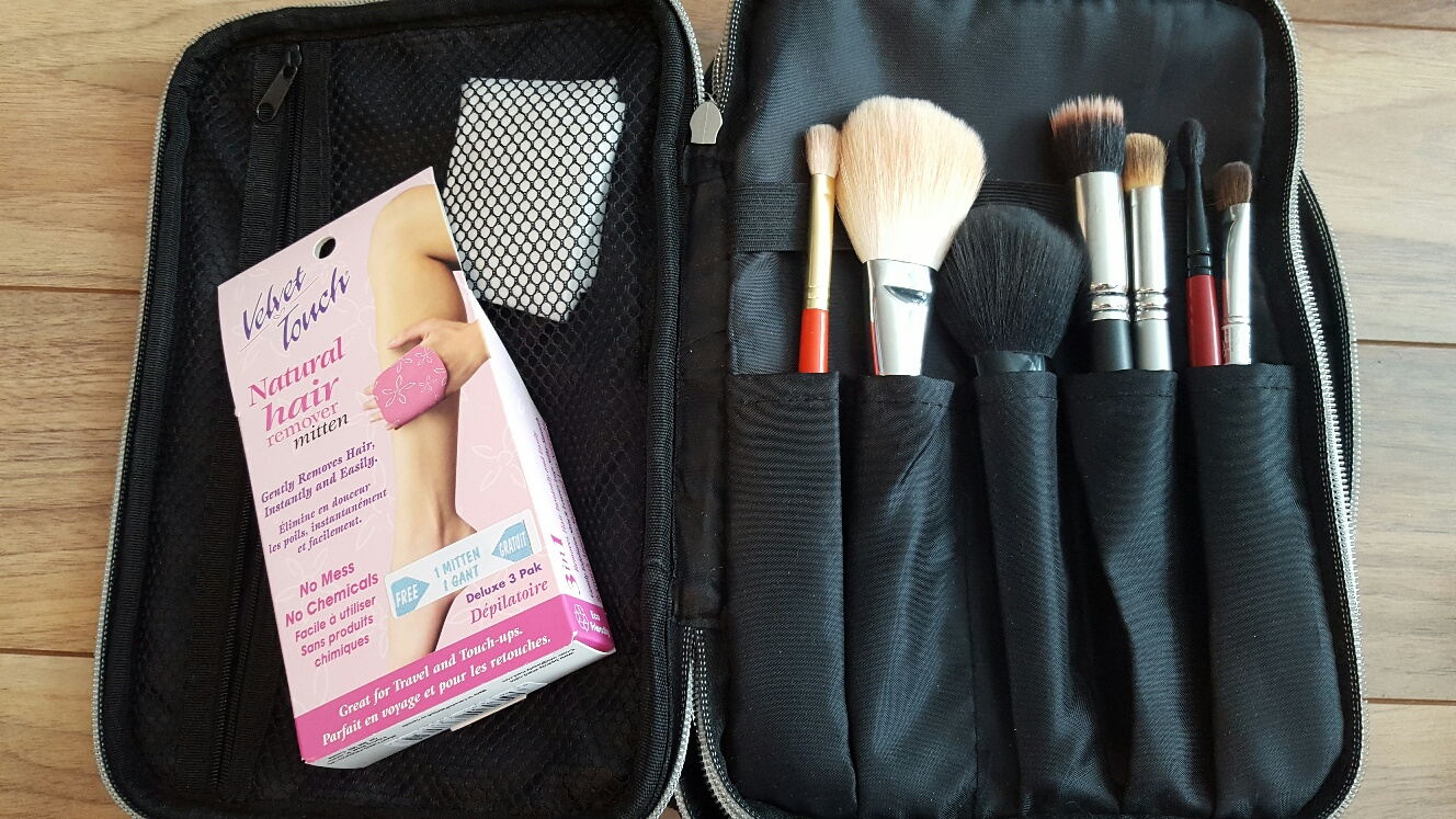 I Decided To Use That Put My Emergency Hair Removal Strips And Cotton Pads This Makeup Bag Is From Bh Cosmetics