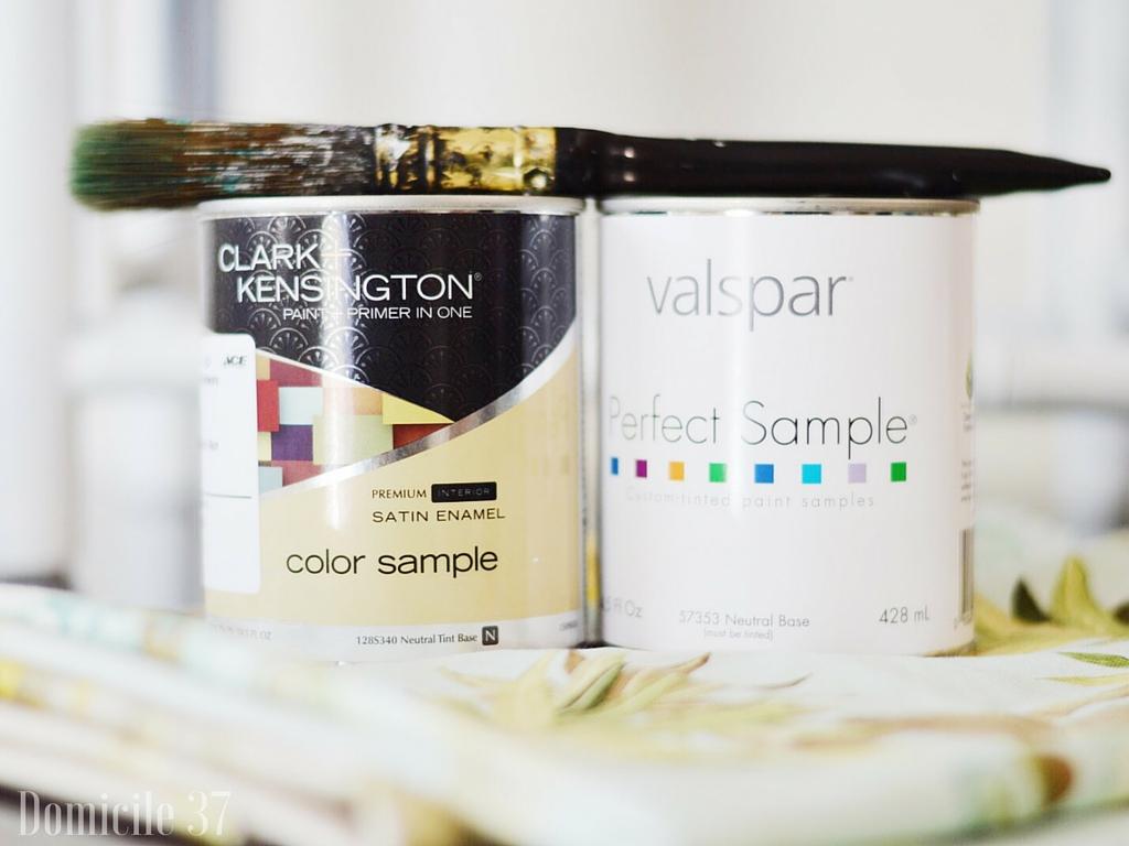 Ace Hardware, valspar, clark+kensington, How to choose the perfect paint color, Domicile 37, home decor tips, paint tips, painting with sample paint