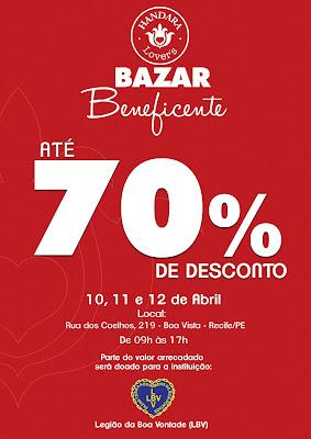 Bazar Beneficente Chic Handara em prol da LBV no Recife