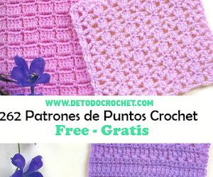 262 patrones gratis de puntos crochet