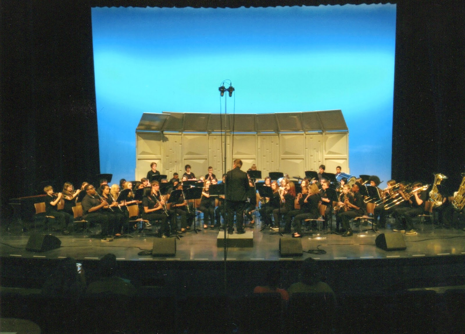 "The Scoggins band musicians performed ""Lassus Trombone"" by Henry  Fillmore/Balent, Colliding Visions by Brian Balmages and Arabian Dances by  Roland Barrett."