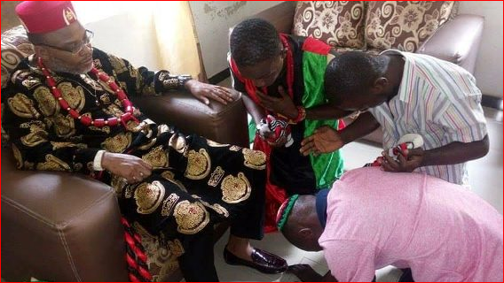 Dem Don Come O - Biafrans Said Nnamdi Kanu's Handshake Healed A Man Of Stomach Pain