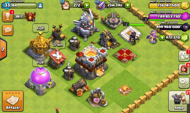 Download Clash of Clans FHx V8 Mod Apk Putraadam7