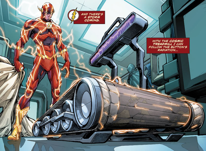 Flash #21 Story: Joshua Williamson Art: Howard Porter Colors: Hi-Fi Letters: Steve Wands Variant Covers: Jason Fabok, Brad Anderson, Mikel Janin  Flash (Barry Allen) created by Robert Kanigher and Carmine Infantino.