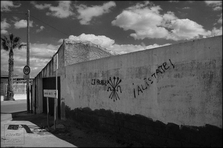 fotografía, Arriba Extraña, Murcia, serie, crisis, falange, valladolises
