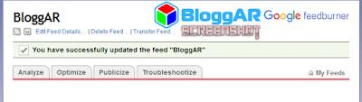 FeedBurner Blog Berhasil Dibuat