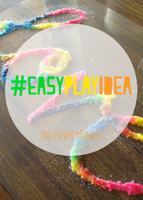 Make your own salt art window clings from our #easyplayidea series - using simple resources found at home, re-create these easy play invitations for your children to make and play these holidays. Visit www.youclevermonkey.com or #easyplayidea on Instagram to follow along!