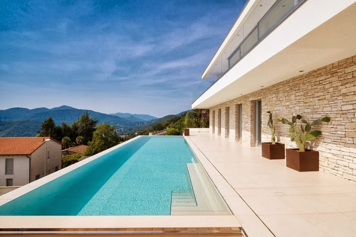 Swimming pool in Beautiful House Lombardo by Philipp Architekten