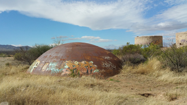 Abandoned Unearthed Titan II missile silo in Arizona