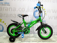 Sepeda Anak Laki-Laki Wimcycle VR1 BMX 12 Inci