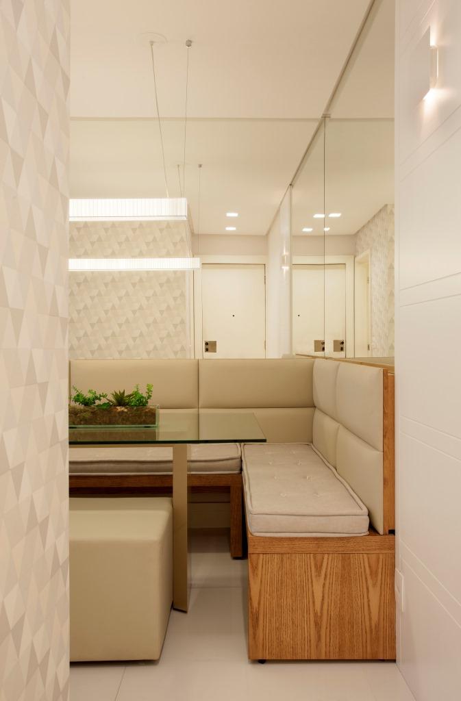 Banco Baú Sala De Jantar ~  aproveitar até os cantos de um ambiente como essa sala de jantar