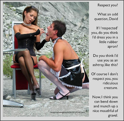 No respect for dominated submissive and none deserved