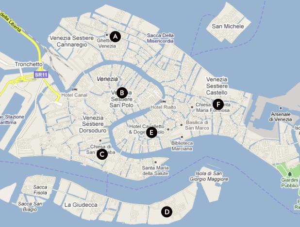 map venice san