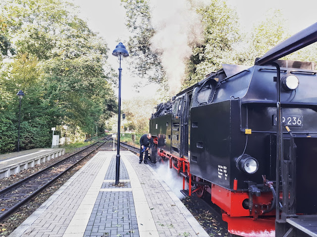 The steam train ready for his journey to Brocken, the heart of Harz