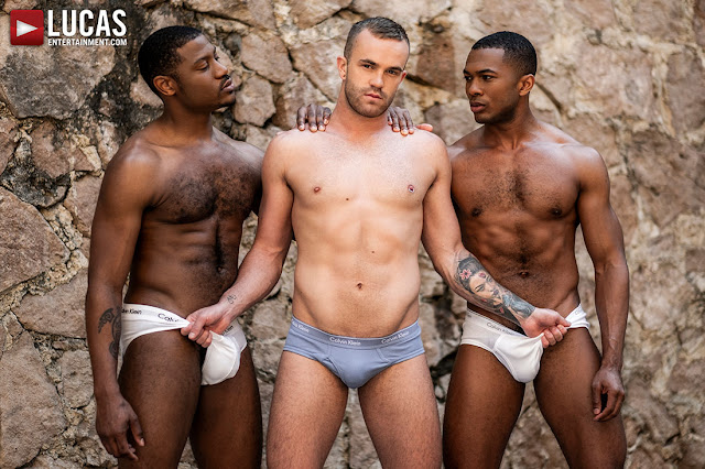 LucasEntertainment - JACKSON RADIZ, SEAN XAVIER, ADONIS COUVERTURE | DOUBLE DOSE OF BLACK COCK