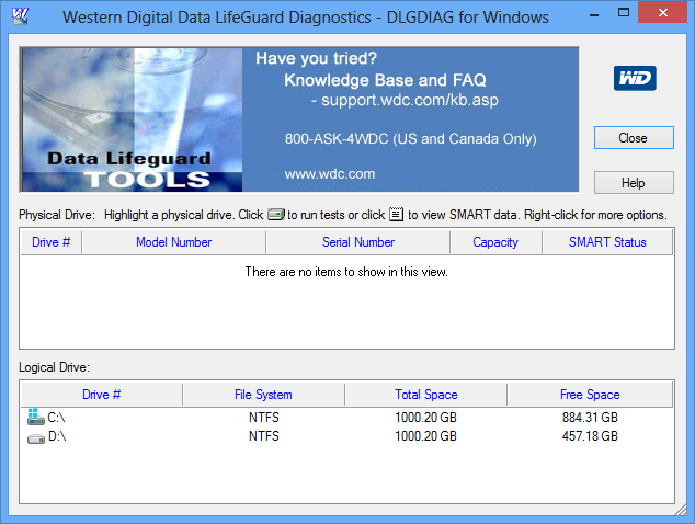 Western Digital Data Lifeguard Diagnostics 5.3 Free