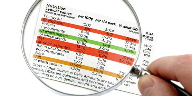 label makanan sehat