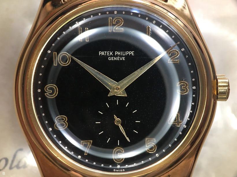 1119ab722 Réplicas De Relojes Patek Philippe Calatrava Esfera De Esmalte Oo Amarillo  Ref. 2526