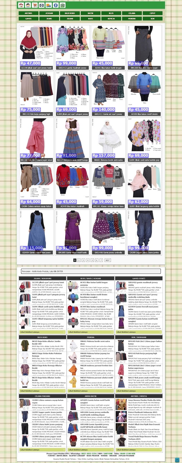 Template Blogger Online Shop SEO Responsive