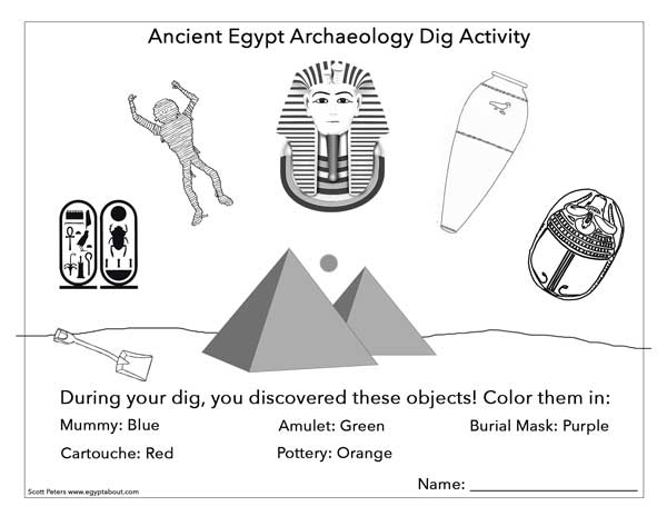 ancient egypt worksheet - Ancient Egypt Mummy Coloring Pages