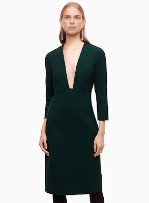 Aritzia Babaton Green Masu Dress