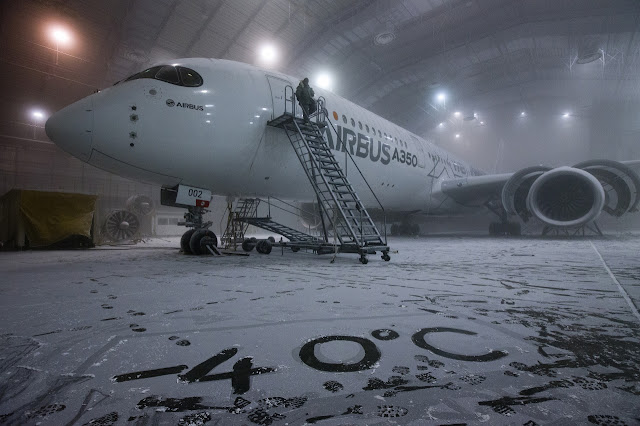 Airbus A350-900 XWB at Climatic Chamber