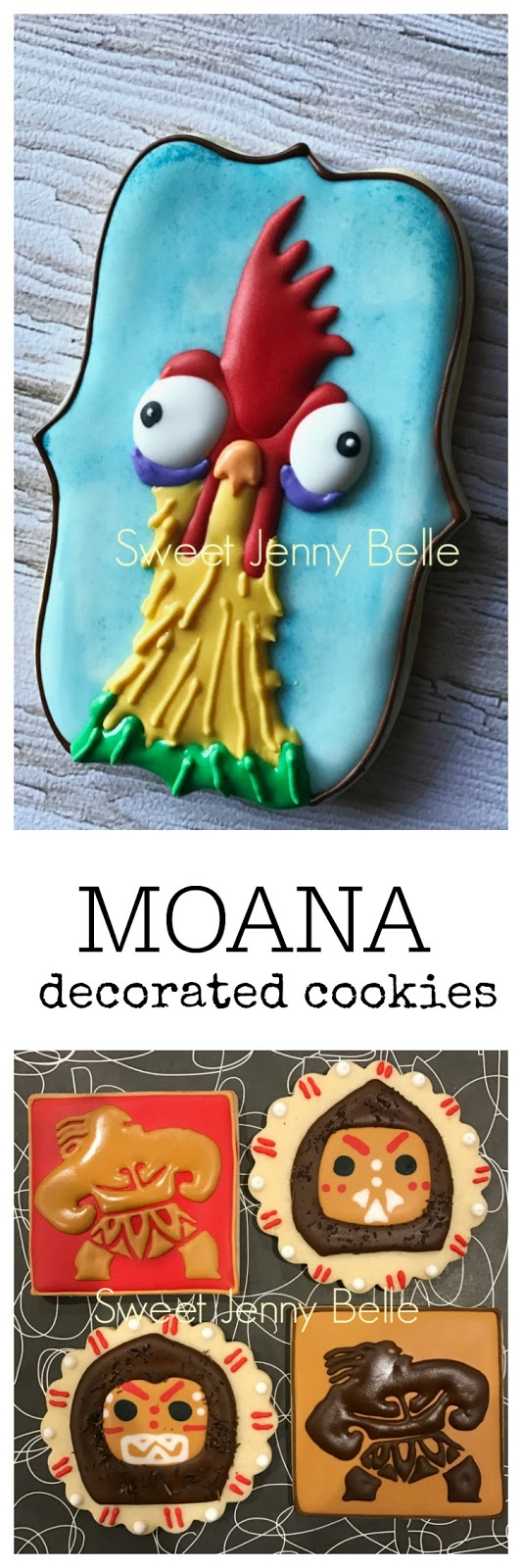 Moana  Maui Hei Hei decorated Sugar Cookies