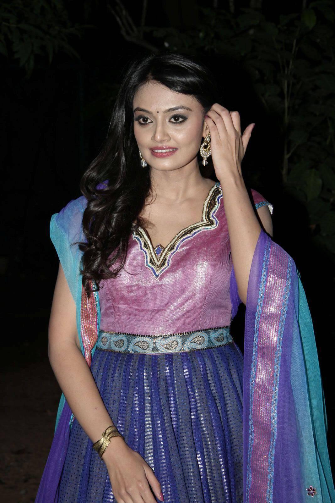 Tollywood Actress Nikitha Narayan Hot Photoshoot In Blue Salwar Churidar