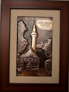 metaloplastie pe tabla de cuptu, tablou moschea camii, lucru manual, arta plastica, tablouri, peisaje, portrete,