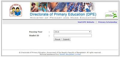 PSC Result 2018 www pscresult www.dpe.gov.bd Result 2018