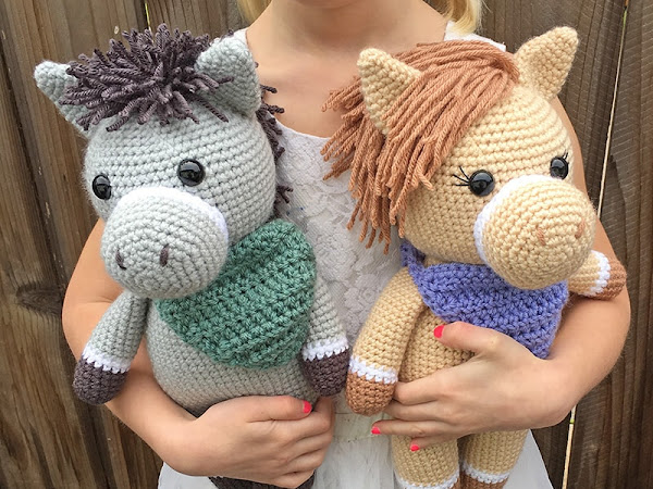 Amigurumi Horse and Donkey - A Free Crochet Pattern