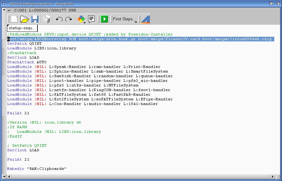 Epsilon's Amiga Blog: AROS Vision on Amiga 4000T Part 1