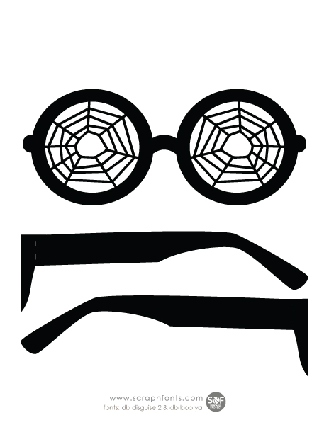 Fontaholic: FREEBIE FRIDAY: Halloween Glasses