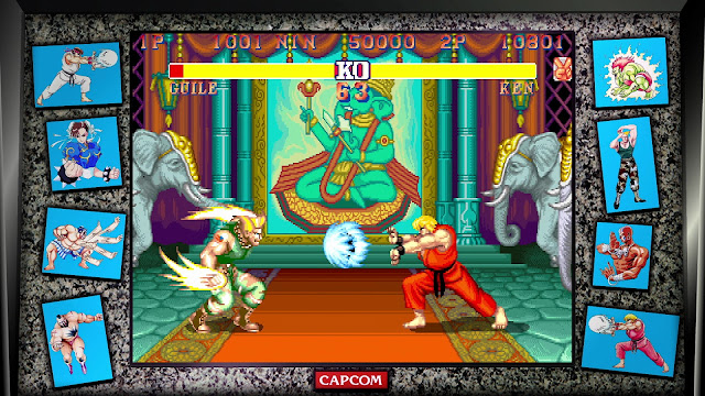 Street Fighter 30th Anniversary Collection - Street Fighter II The World Warrior - Dhalsim Stage - Guile VS Ken