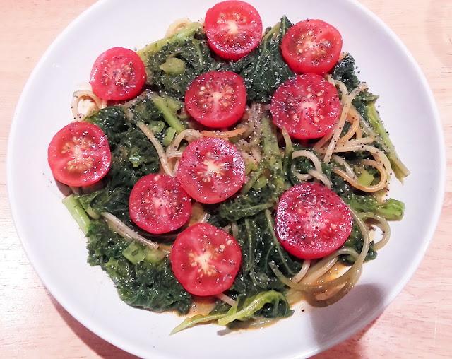 Creamy kale spaghetti