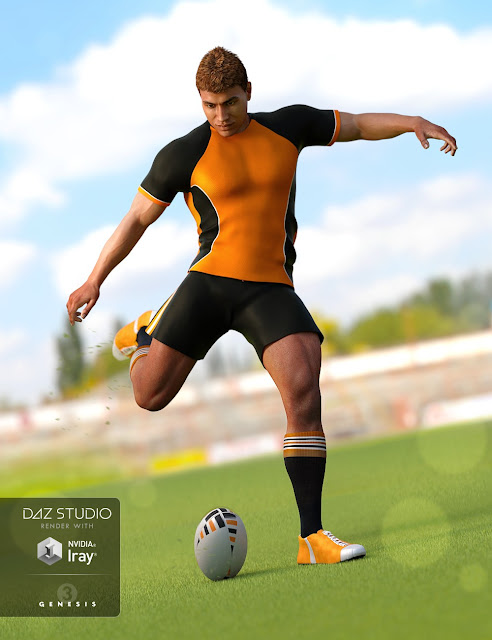 Rugby Uniform for Genesis 3 Male