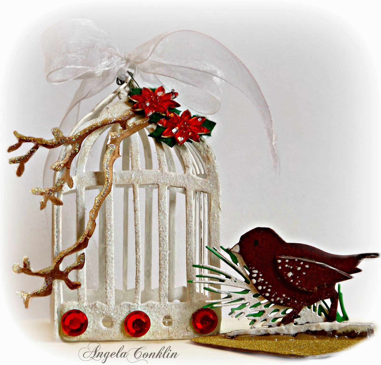 3D Bird Cage Ornament Using the Sizzix Caged Bird Die