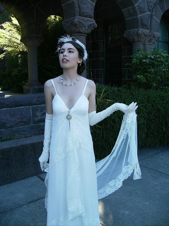 Bride chic glove glam for Wedding dress with long gloves
