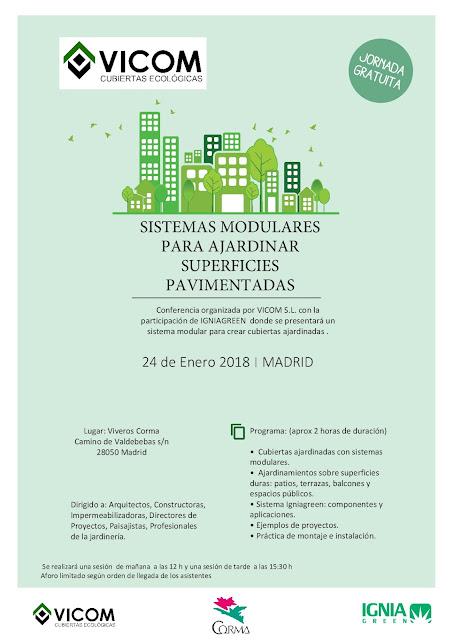conferencias cubiertas vegetales Corma