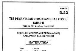 Soal TPPU Kulon Progo 2017 Tahap 2 - Matematika