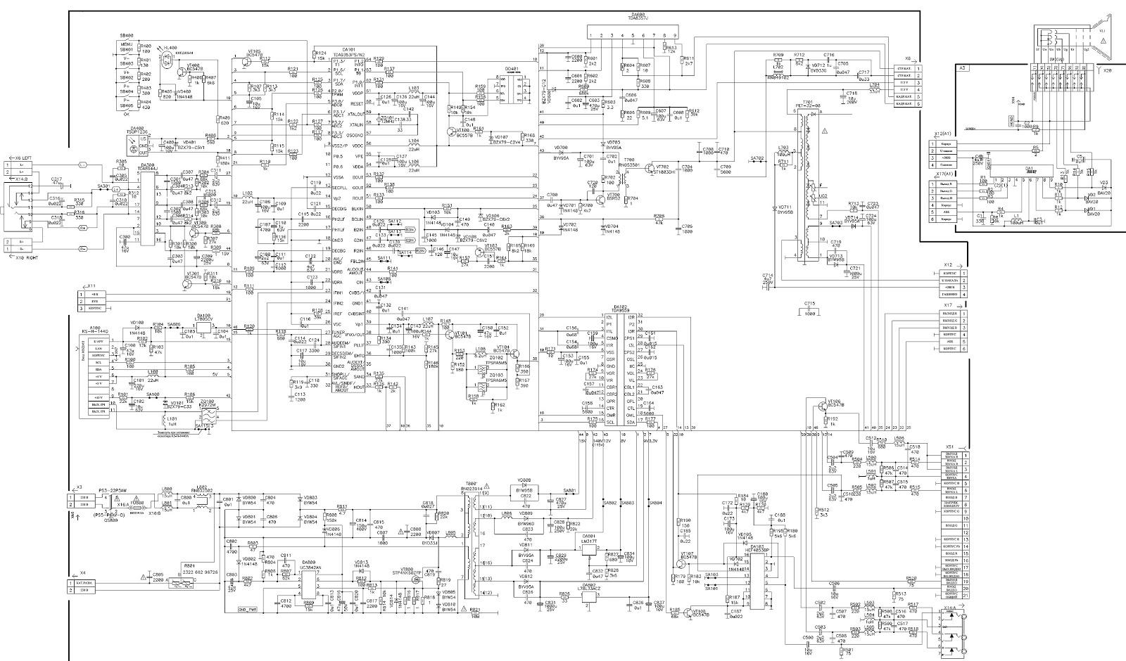 rolsen c2131 crt tv circuit diagram stp4nk60zfp. Black Bedroom Furniture Sets. Home Design Ideas