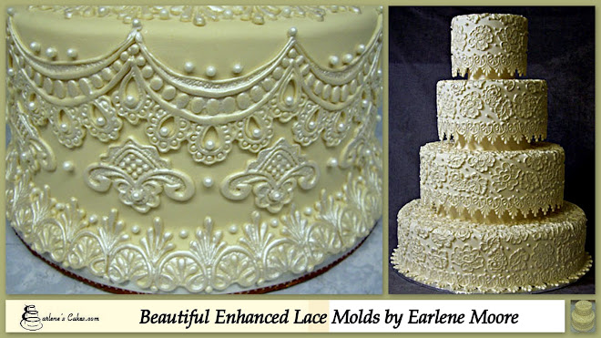 Check out Earlene Moore's fabulous enhanced lace molds!