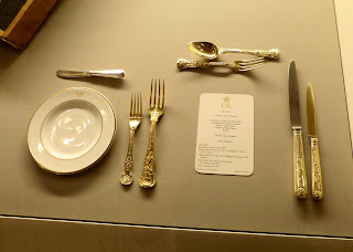 Place setting for a state banquet in a Royal Welcome  2015 exhibition at Buckingham  Palace   Photo © Andrew Knowles