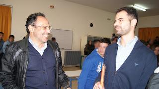 Ο Βαγγέλης Αυγουλάς και ο καθηγητής Κώστας Βαρβεράκης