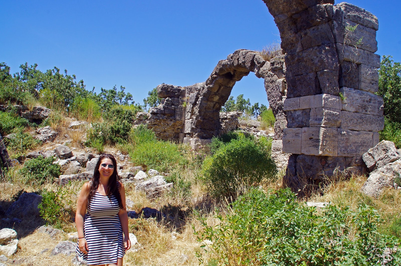 Simone exploring Alexandria Troas